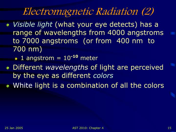 Electromagnetic Radiation (2)