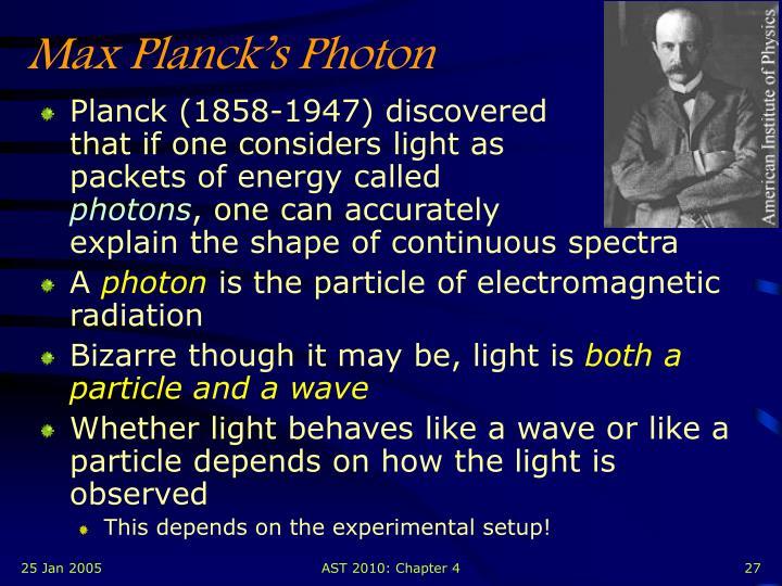 Max Planck's Photon
