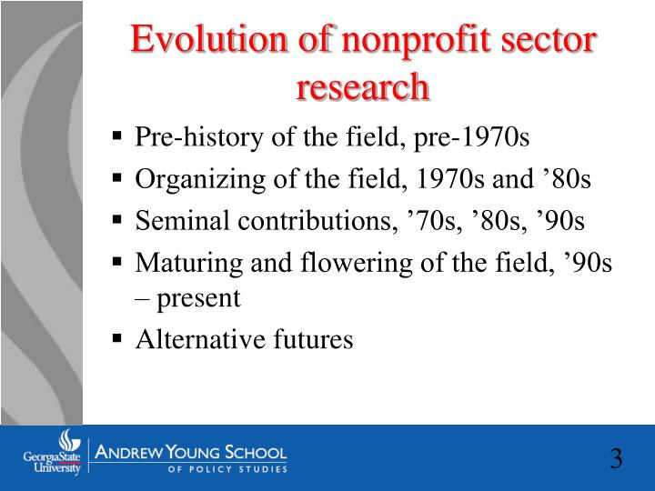Evolution of nonprofit sector research