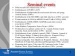 seminal events