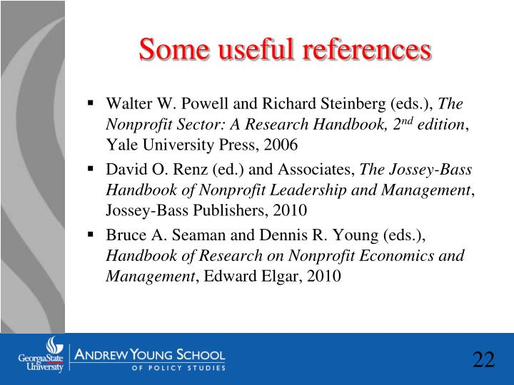 Some useful references
