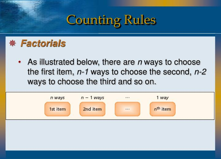 Counting Rules