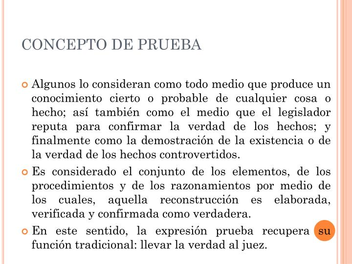CONCEPTO DE PRUEBA