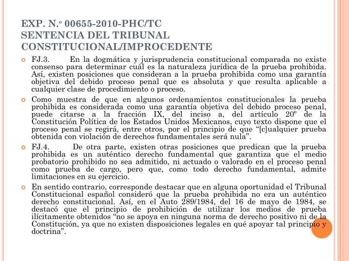 EXP. N.º 00655-2010-PHC/TC