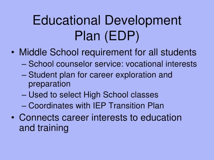 Educational Development Plan (EDP)