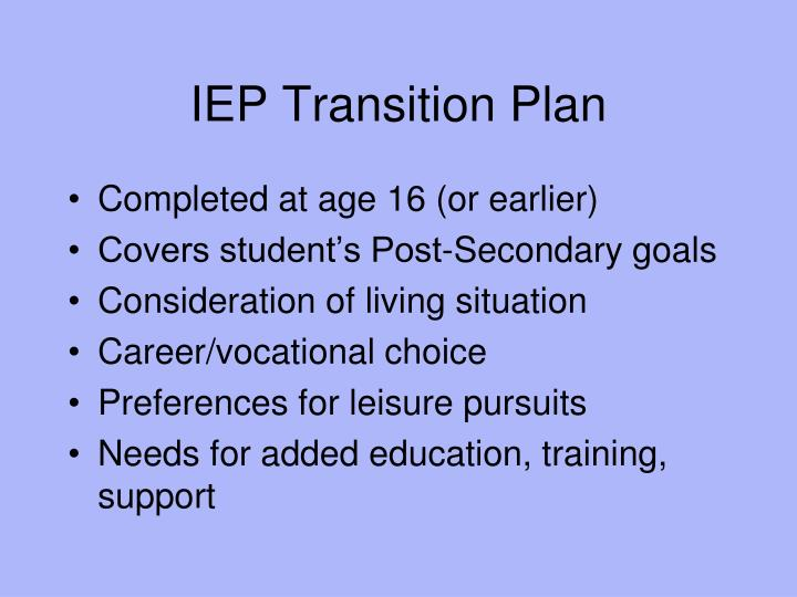 IEP Transition Plan