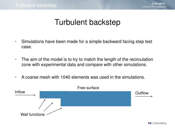 Turbulent backstep