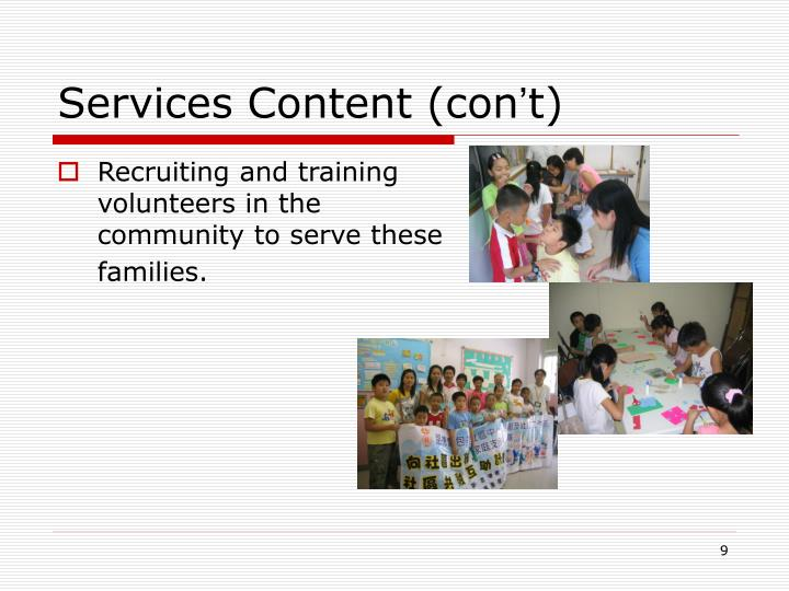Services Content (con