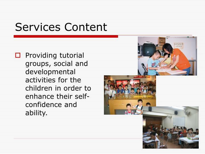 Services Content