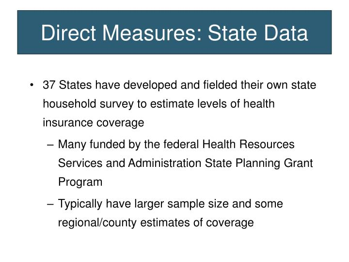 Direct Measures: State Data