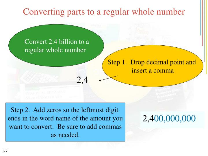 Converting parts to a regular whole number