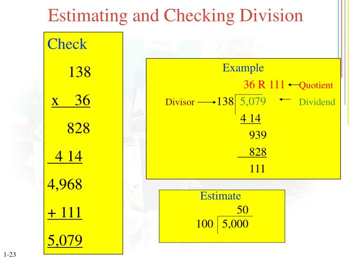 Estimating and Checking Division