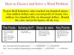 how to dissect and solve a word problem1