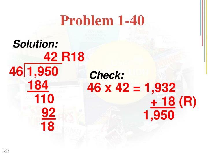 Problem 1-40