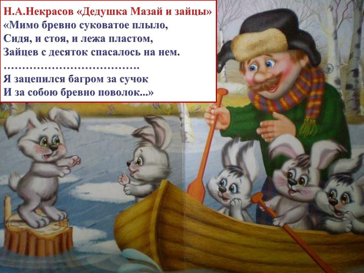 Н.А.Некрасов «Дедушка Мазай и зайцы»