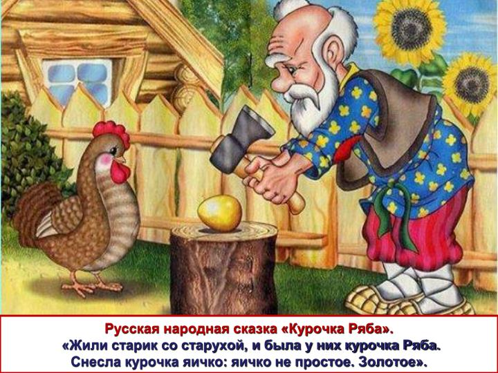 Русская народная сказка «Курочка Ряба».