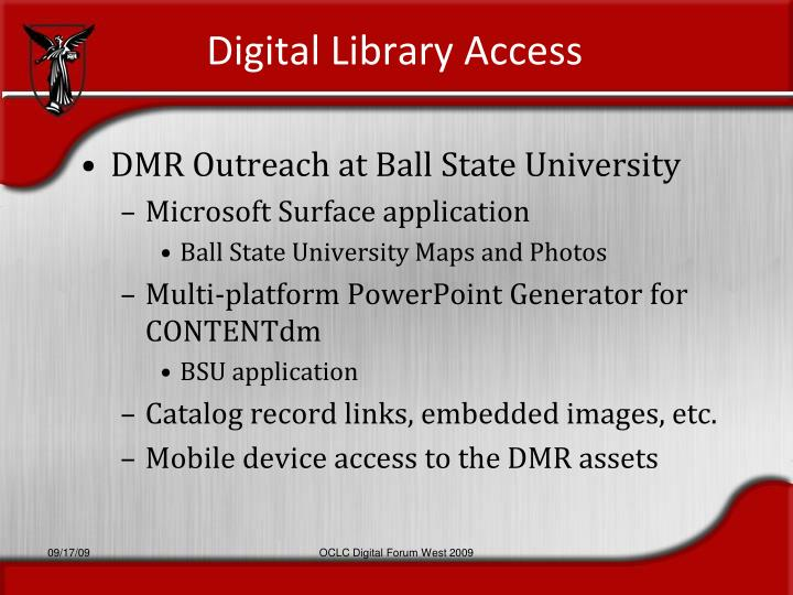 Digital Library Access