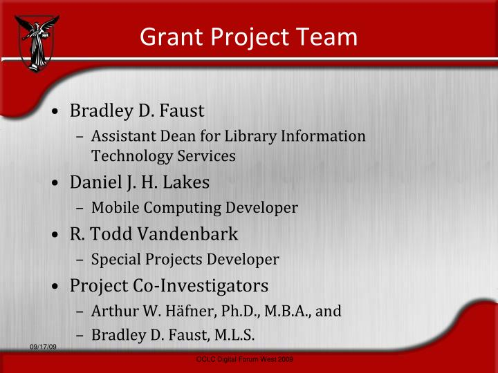 Grant Project Team