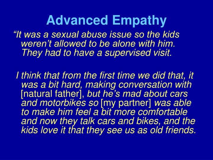 Advanced Empathy