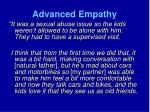 advanced empathy