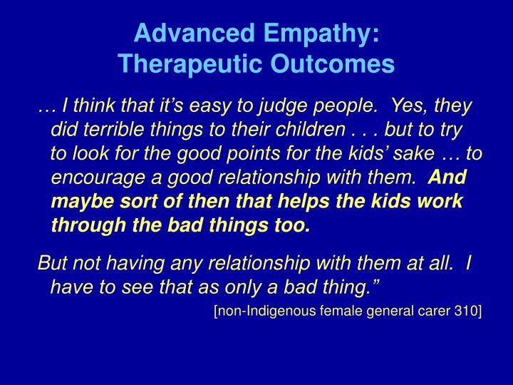 Advanced Empathy: