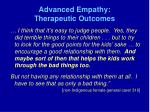 advanced empathy therapeutic outcomes
