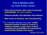 role modelling by male foster carers