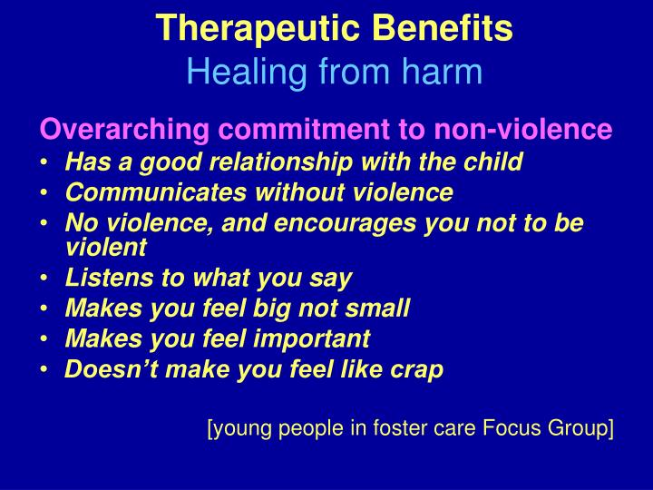 Therapeutic Benefits