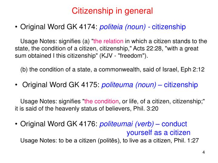 Citizenship in general
