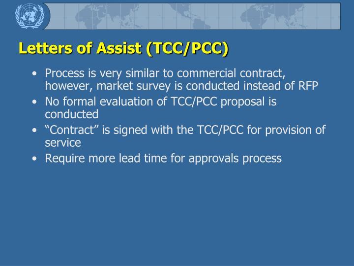 Letters of Assist (TCC/PCC)