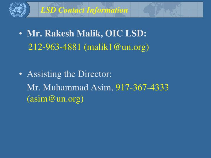 LSD Contact Information