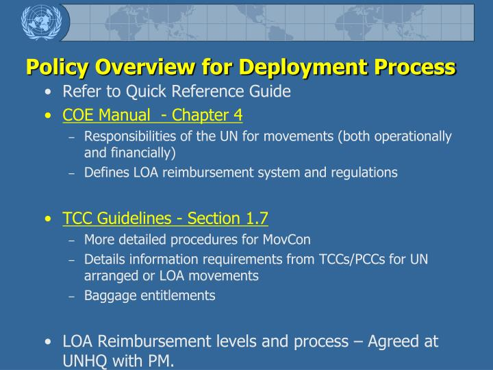 Policy Overview for Deployment Process