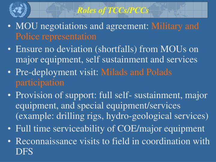 Roles of TCCs/PCCs