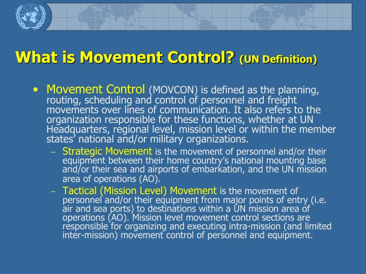 What is Movement Control?