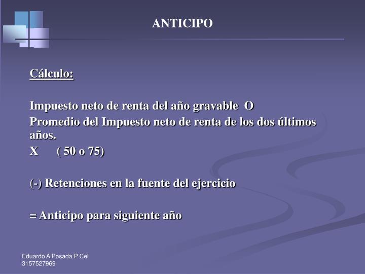 ANTICIPO