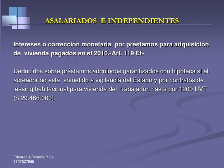 ASALARIADOS  E INDEPENDIENTES