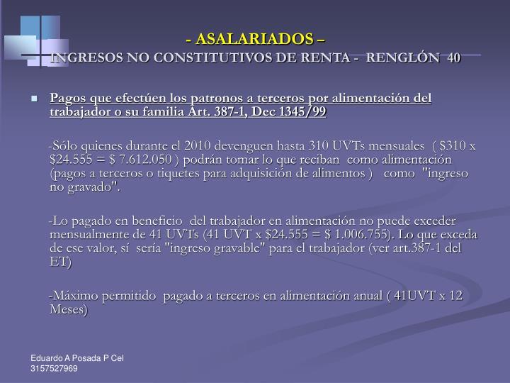 - ASALARIADOS