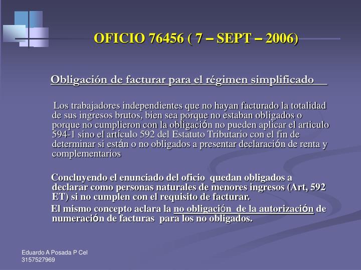 OFICIO 76456 ( 7