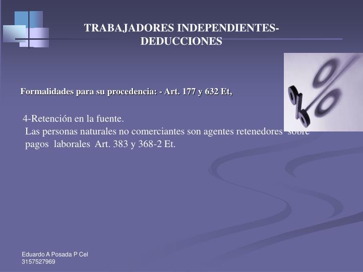 TRABAJADORES INDEPENDIENTES-