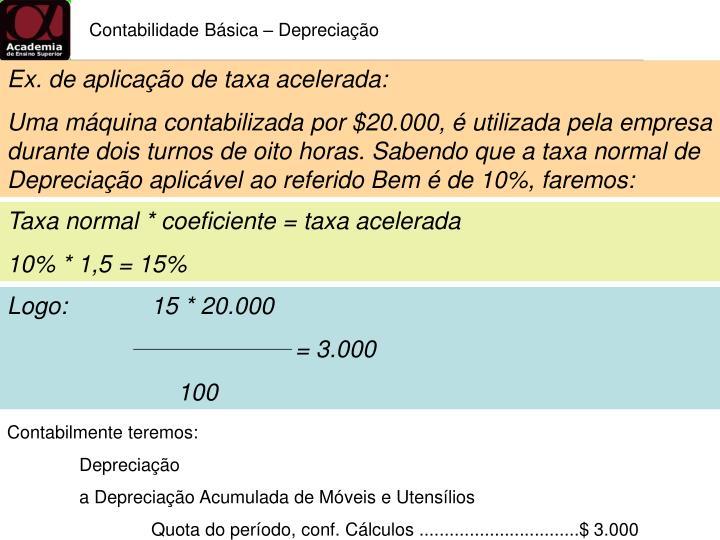 Contabilidade Básica – Depreciação