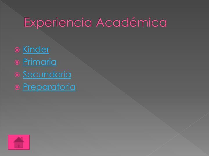 Experiencia Académica