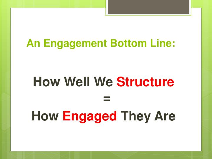 An Engagement Bottom Line: