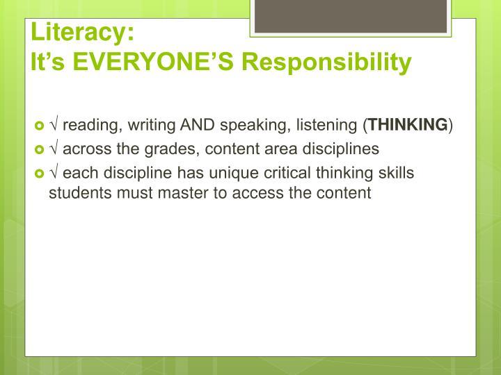 Literacy: