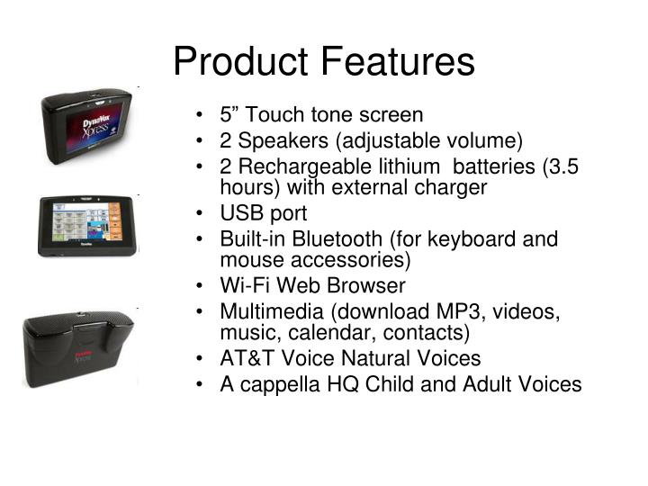 """5"""" Touch tone screen"""