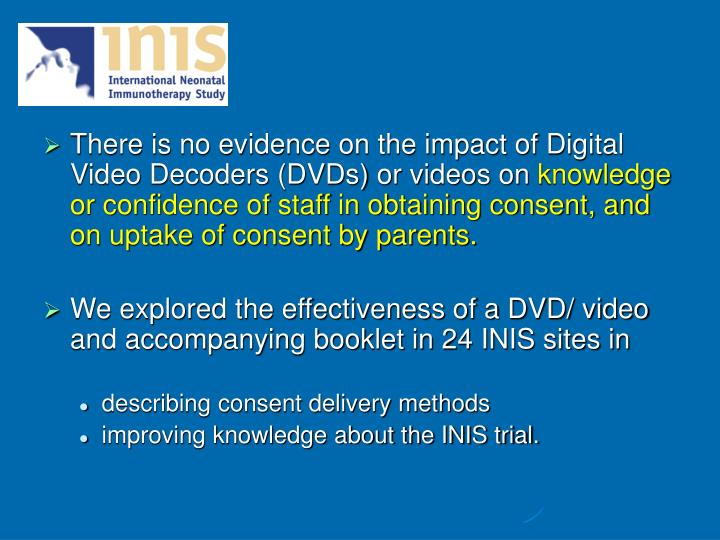 There is no evidence on the impact of Digital Video Decoders (DVDs) or videos on