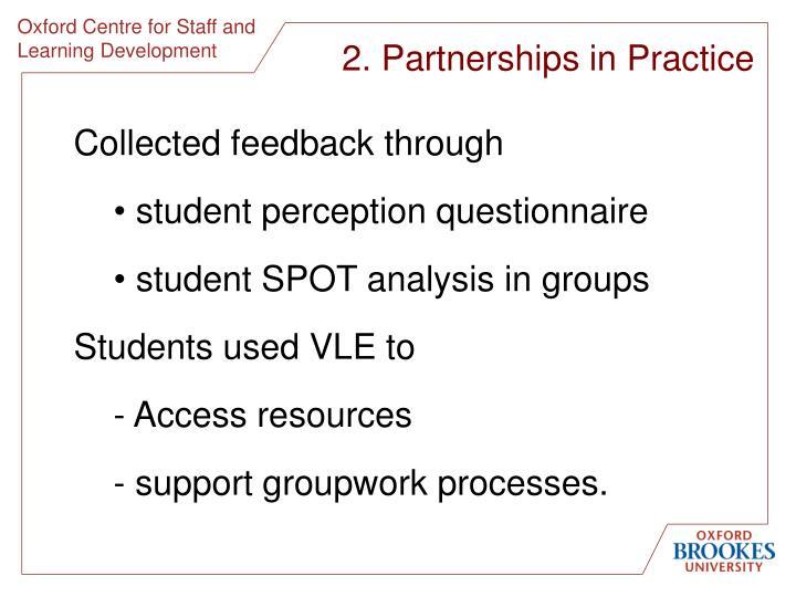 2. Partnerships in Practice