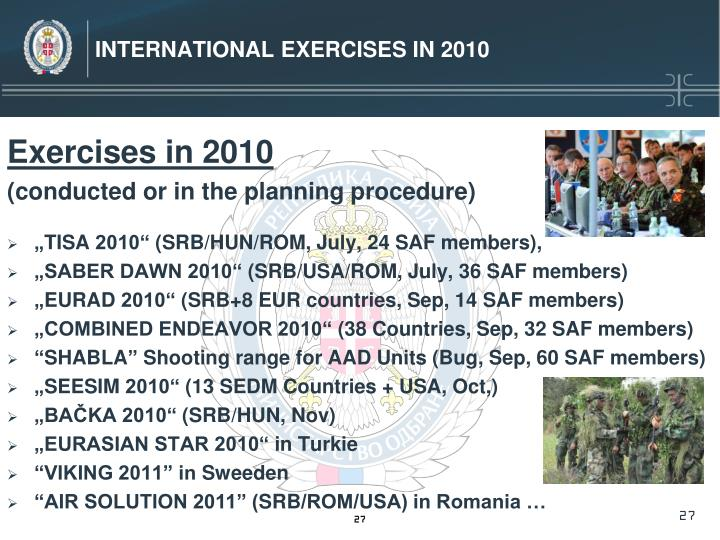 International Exercises in