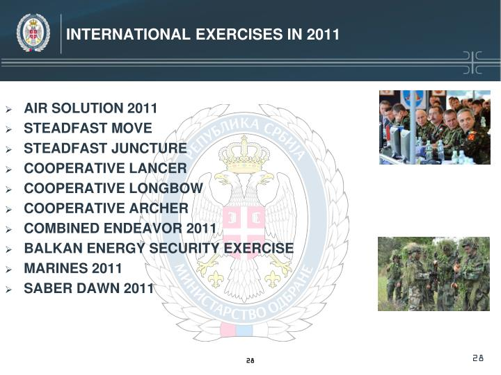International Exercises in 2011