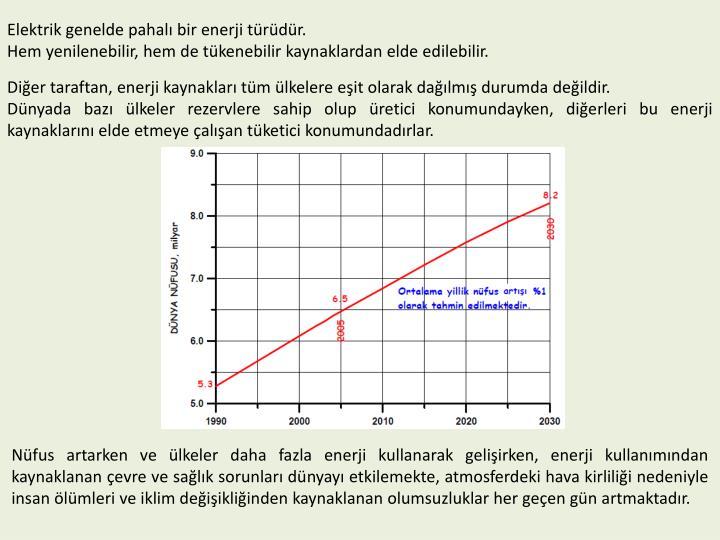 Elektrik genelde pahal bir enerji trdr.