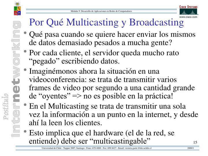 Por Qué Multicasting y Broadcasting